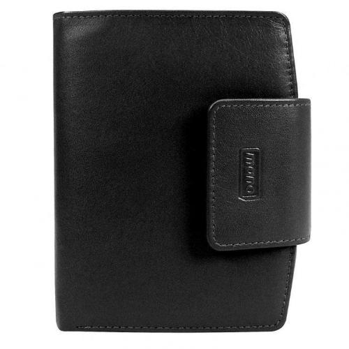 mano Basic Deluxe (10 cm) Geldbörse schwarz