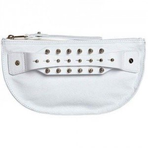 Mcq Clutch bleached white