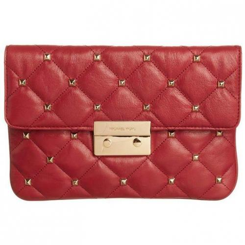 Michael Michael Kors Sloan Clutch red