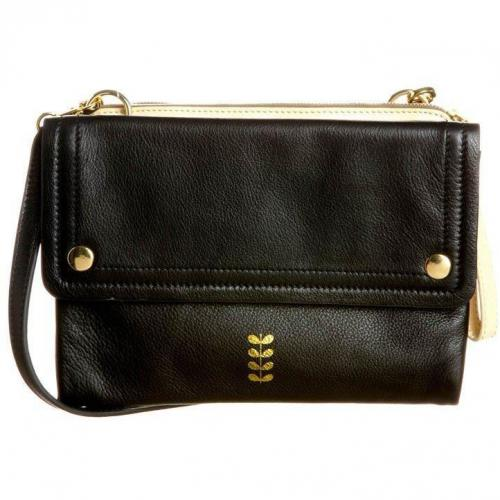 Orla Kiely Clover Bag Clutch cream/charcoal