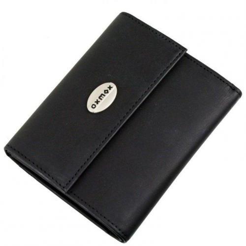 oxmox Black (11,5 cm) Geldbörse schwarz
