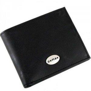 oxmox Black (12 cm) Geldbörse schwarz