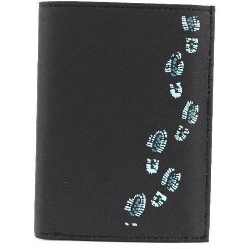 oxmox Footsteps (12,5 cm) Geldbörse schwarz