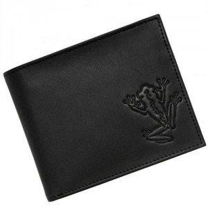 oxmox Frog (12 cm) Geldbörse schwarz