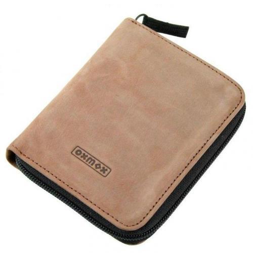 oxmox Leather Raw Style Geldbörse braun