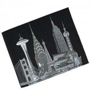 oxmox Skyline (12 cm) Geldbörse schwarz