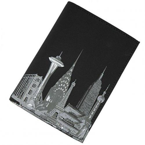 oxmox Skyline (12,5 cm) Geldbörse schwarz