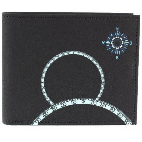 oxmox Windrose (12 cm) Geldbörse schwarz