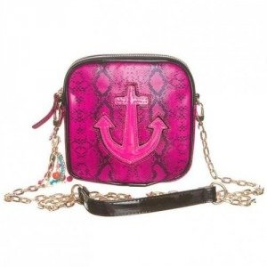 Paul's Boutique Nancy Anchor Clutch snake pink