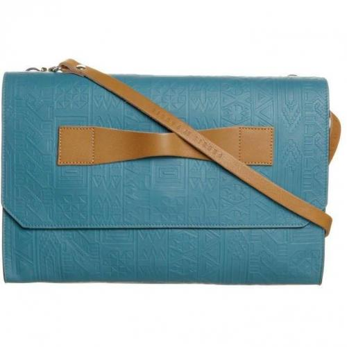 Pauric by Pauric Sweeney Paris Clutch turquoise aztec