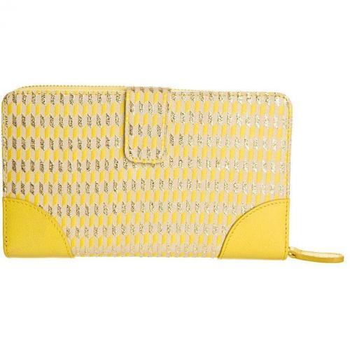 Silvio Tossi Geldbörse gelb/beige