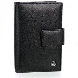 Szuna Geldbörse schwarz aus weichem Rindsleder