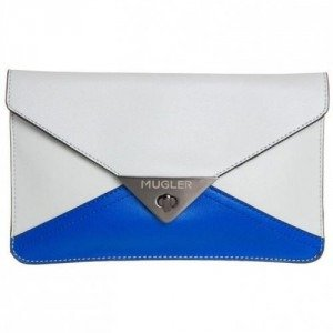 Thierry Mugler Clutch off white/blue