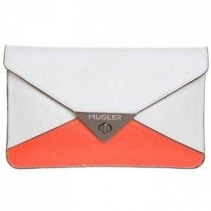 Thierry Mugler Clutch offwhite/ orange