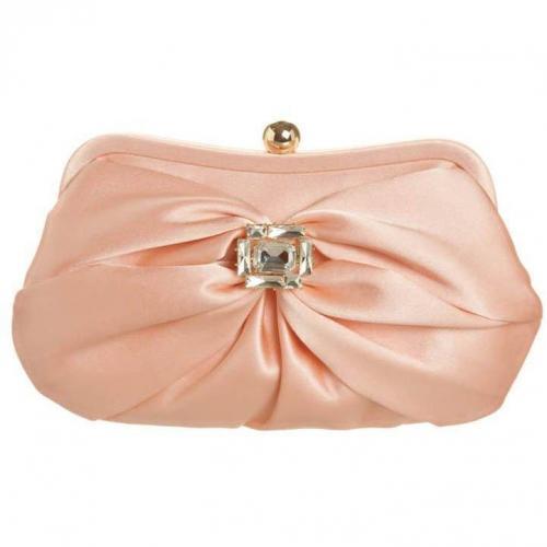 Tosca Blu Clutch rosa mit Ziersteinapplikation