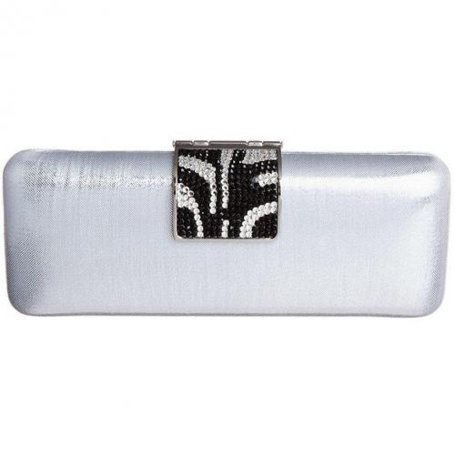 victoria delef clutch silber schwarz. Black Bedroom Furniture Sets. Home Design Ideas