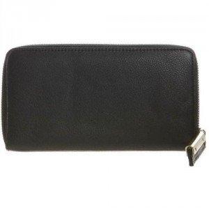 Zign Geldbörse black mit hochwertigem Reißverschluss
