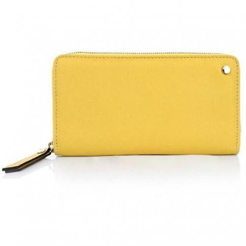 Abro Geldbörse Leder Match Yellow