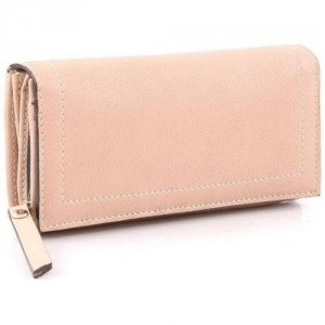 Abro Nappa Geldbörse Damen Leder rosa 18,5 cm