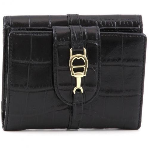 Aigner All In Geldbörse Damen Leder schwarz 12 cm