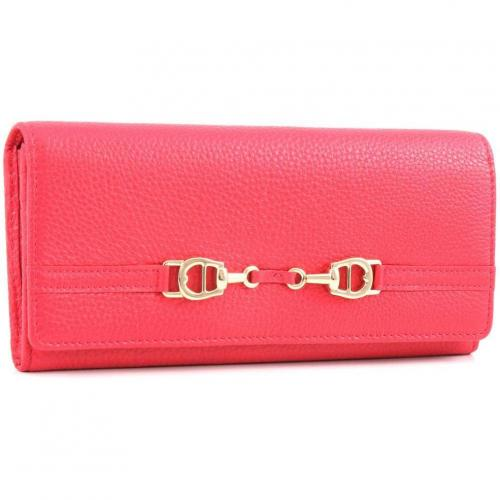 Aigner All In L Geldbörse Damen Leder pink 20 cm