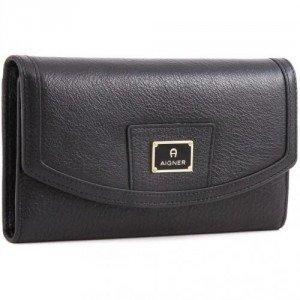 Aigner Cache-Cache Geldbörse Damen schwarz 18,5 cm