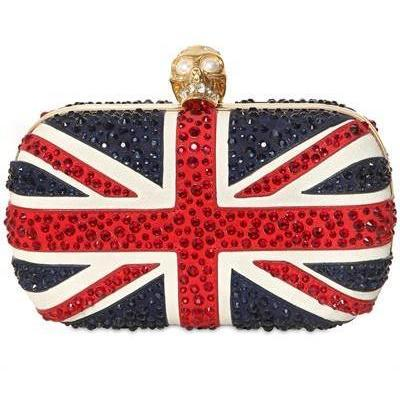Alexander McQueen Kristall Box Clutch Britannia