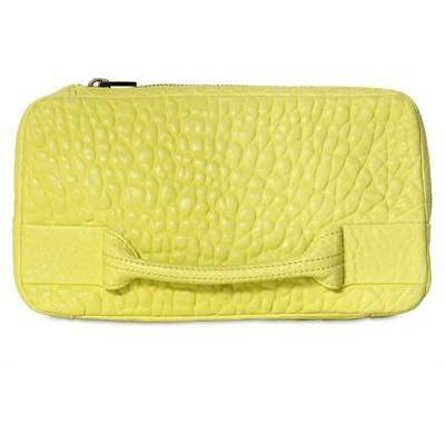 Alexander Wang Dumbo Clutch aus Pebbled Leder mintgrün
