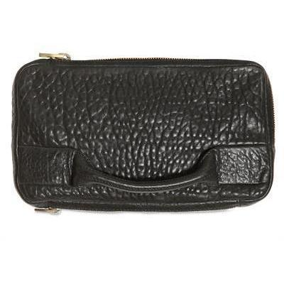 Alexander Wang Dumbo Clutch aus Pebbled Leder schwarz