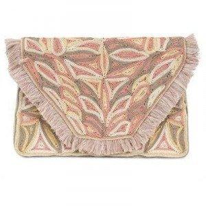 Antik Batik Clutch aus Seil und Faden