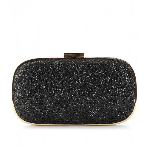 Anya Hindmarch Box-Clutch Marano mit Glitter