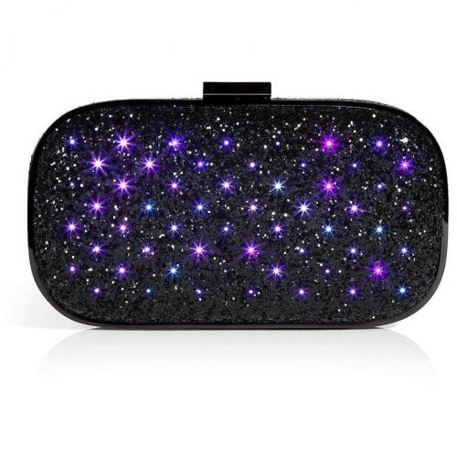 Anya Hindmarch Coal Glitter Marano Dancer LED Clutch