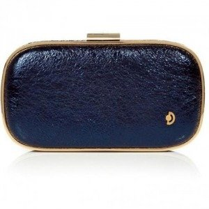 Anya Hindmarch Midnight Crinkle Leather Marano Music Box Clutch