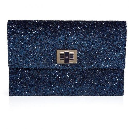 Anya Hindmarch Midnight Glitter Valorie Clutch