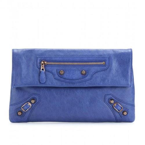 Balenciaga Clutch Giant 12 Envelope sea blue