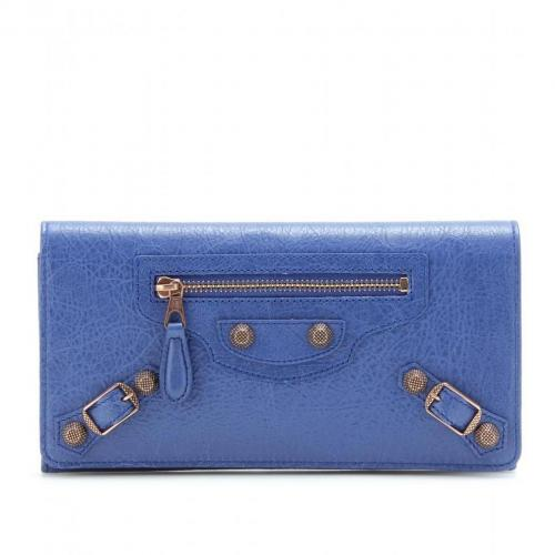 Balenciaga Lederportemonnaie Giant Money blau