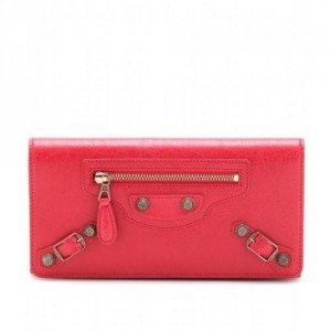 Balenciaga Lederportemonnaie Giant Money red