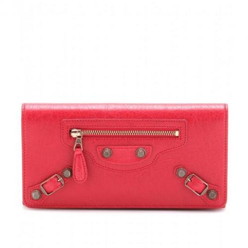 Balenciaga Lederportemonnaie Giant Money red