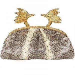 Ballin Phoenix Python Clutch aus Ayers beige