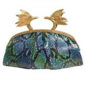 Ballin Phoenix Python Clutch aus Ayers türkis