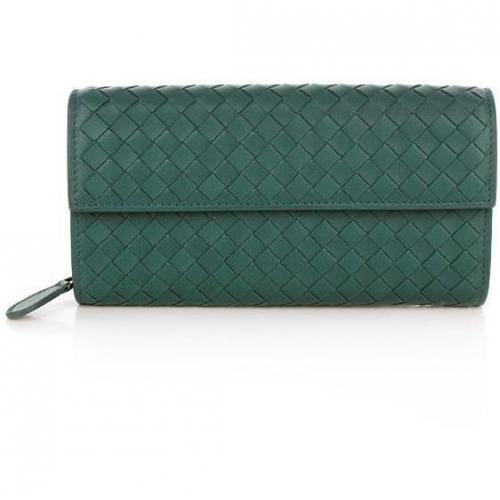 Bottega Veneta Intrecciato Nappa Continental Wallet Teal