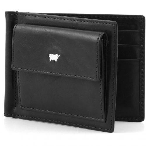 Braun Büffel Basic Portemonnaie Leder schwarz 11,5 cm