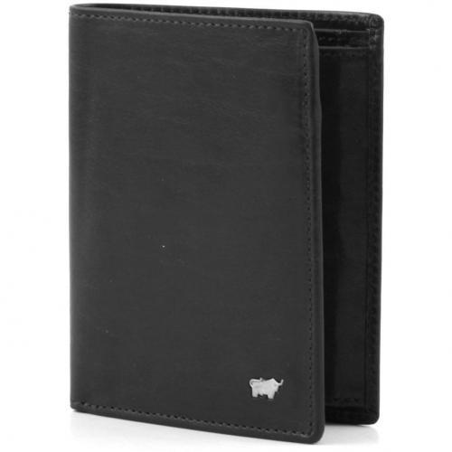 Braun Büffel Basic Portemonnaie Leder schwarz 12 cm
