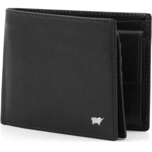 Braun Büffel Basic Portemonnaie Leder schwarz 12,5 cm
