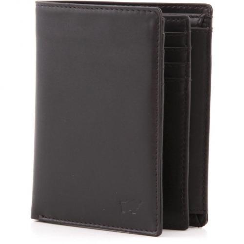 Braun Büffel Chaplin Brieftasche Leder braun 12 cm