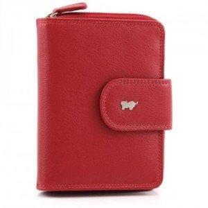 Braun Büffel Golf Geldbörse Leder rot 12,5 cm