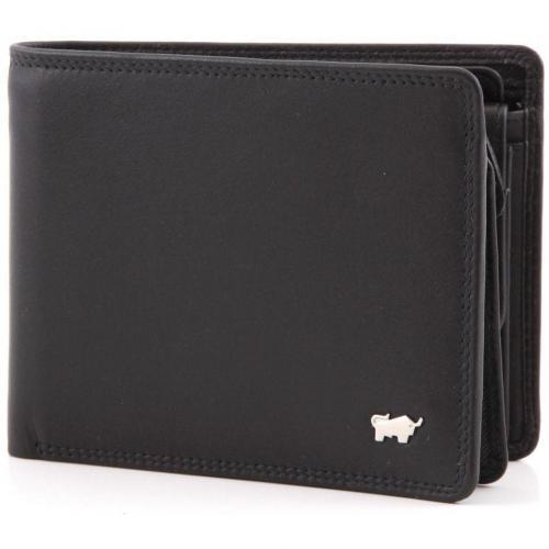 Braun Büffel Golf Geldbörse Leder schwarz 12 cm