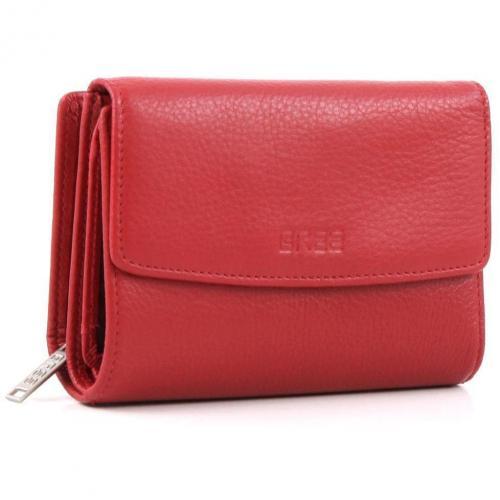Bree Montpellier 108 Geldbörse Damen Leder rot 13 cm