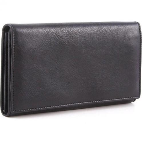 Bric's Life Pelle Geldbörse Damen schwarz 19 cm
