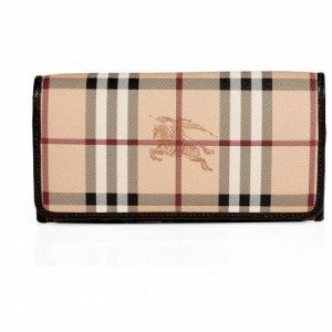 Burberry London Chocolate Haymarket Check Continental Penrose Wallet